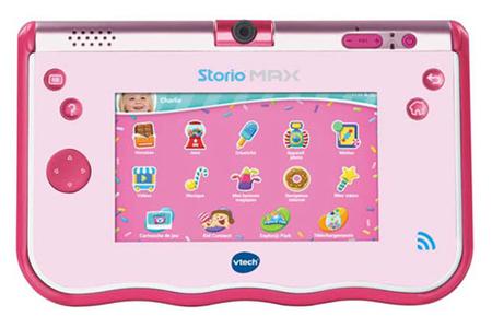 tablette tactile enfant vtech storio max 5 rose darty. Black Bedroom Furniture Sets. Home Design Ideas