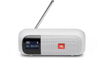 Radio Jbl Enceinte portable radio DAB/FM, Tuner 2 Blanc
