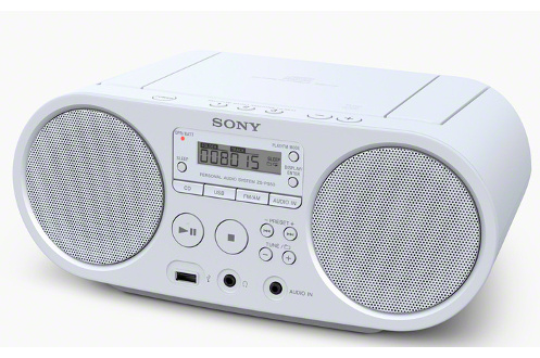 radio cd radio k7 cd sony zs ps50w blanc 4101537. Black Bedroom Furniture Sets. Home Design Ideas