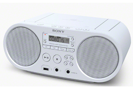 radio cd radio k7 cd sony zs ps50w blanc darty. Black Bedroom Furniture Sets. Home Design Ideas