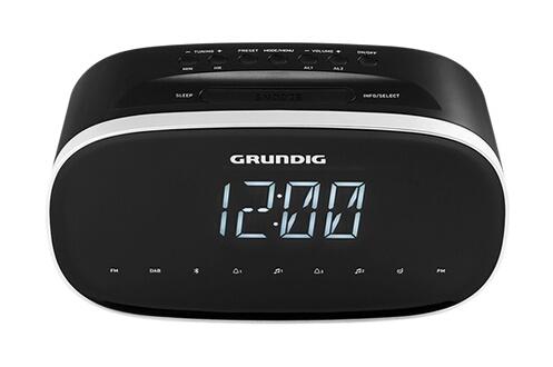 Radio réveil noir - FM RDS/DAB+ - LCD Blanc - Port USB - Connectivité Bluet