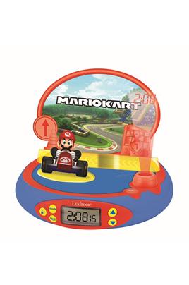 Réveil Projecteur Nintendo avec Mario Kart en 3D et des sons du jeu vidéo