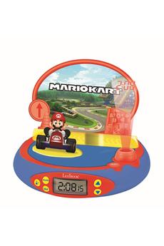 Radio-réveil Lexibook Réveil Projecteur Nintendo avec Mario Kart en 3D et des sons du jeu vidéo