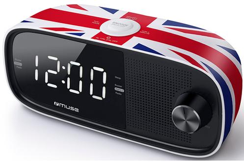 Tuner numérique FM Alarmes : radio ou buzzer Double alarme - Fonction Répétition et arrêt programmé Affichage LED - 20 présélections