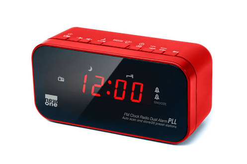 Radio-réveil CR 120 ROUGE New One