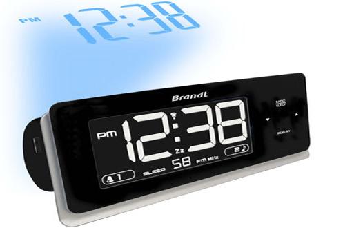 Radio r veil brandt bcr86p 3112942 - Reveil avec projecteur plafond ...