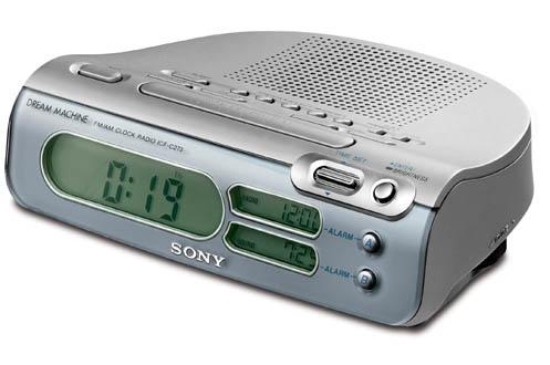 Sony ICF-C273L ARGENT
