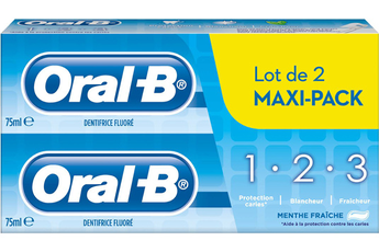 Solution dentaire PACK DENTIFRICE 1 2 3 MENTHE FRAICHE Oral B
