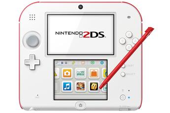 Consoles 2DS 2DS BLANC + ROUGE Nintendo