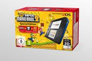 Consoles 2DS Nintendo NINTENDO 2DS + NEW SUPER MARIO BROSS 2 NOIR BLEU
