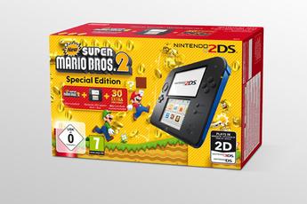 Consoles 2DS NINTENDO 2DS + NEW SUPER MARIO BROSS 2 NOIR BLEU Nintendo