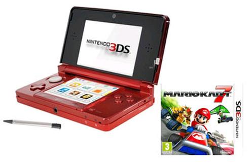 Nintendo 3ds rouge mario kart7 3dsrouge mariokart7 3563987 - Console 3ds xl blanche avec mario kart 7 ...