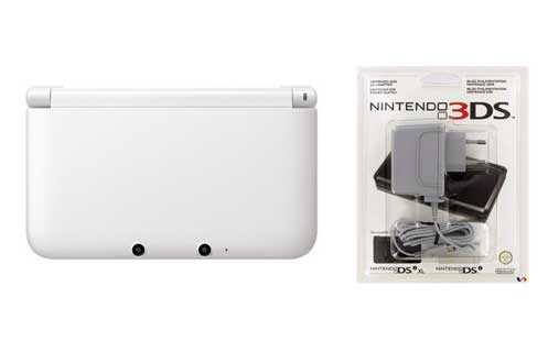 nintendo 3ds xl blanche chargeur 3744876. Black Bedroom Furniture Sets. Home Design Ideas