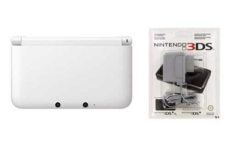 consoles 3ds nintendo 3ds xl blanche chargeur darty. Black Bedroom Furniture Sets. Home Design Ideas