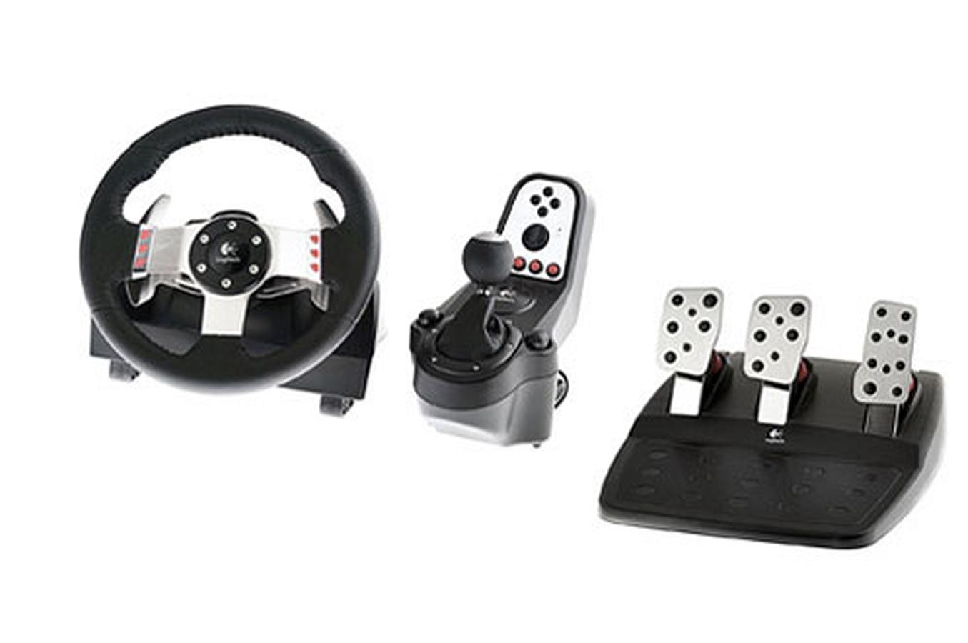 joystick logitech g27 racing wheel 1270141 darty. Black Bedroom Furniture Sets. Home Design Ideas