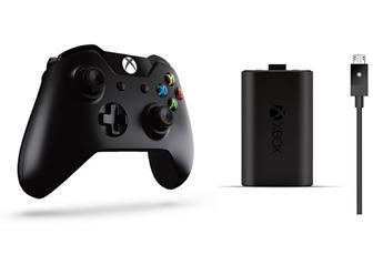 Accessoires Xbox One MANETTE SANS FIL NOIR + PLAY & CHARGE KIT Microsoft