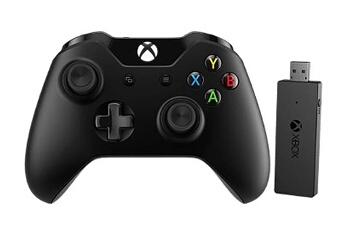 Accessoires Xbox One MANETTE XBOX ONE + ADAPTATEUR SANS FIL POUR WINDOWS 10 Microsoft
