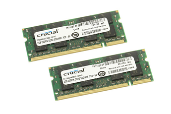 Barrette mémoire DDR2 2X2GB 800 Crucial