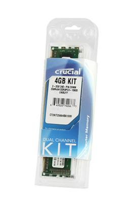 Barrette mémoire DDR3 KIT 2X2GB 1333 Crucial