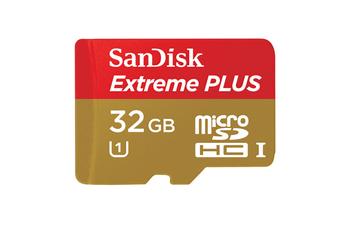 Carte mémoire Micro SDHC Extreme Plus 32Go Sandisk