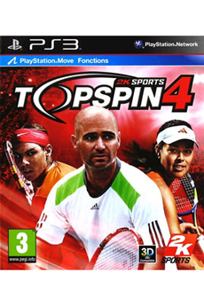 Jeux PS3 TOP SPIN 4 2k Sports