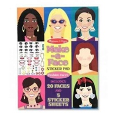 Peinture et dessin MELISSA & DOUG MAKE-A-FACE STICKER PAD: FASHION FACES