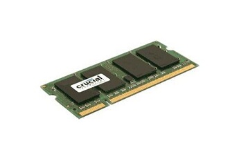 CRUCIAL Mémoire portable / SoDimm Mémoire portable SO DIMM DDR2 PC2 6400   1 Go 800 MHz   CAS 5   CT