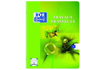 Cahier Travaux Pratiques 96 Pages 17 X 22 Cm Grands Carreaux Seyès Et Papier Dessin Uni Coloris Aléatoires