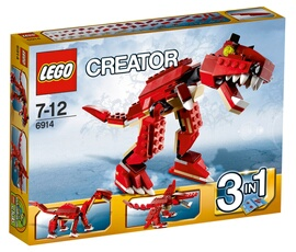 Figurines personnages Lego Creator T-rex