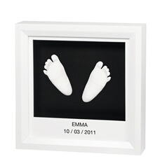 Empreinte bébé Silver Cross Sculpture Windows Sculpture Frame Blanc