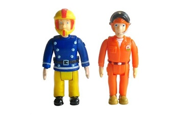 Figurines personnages Ouaps Figurines Sam le pompier : Sam Pilote Quad et Tom Pilote