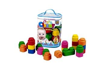 Jouets premier âge CLEMENTONI Cubes souples baby clemmy : sac de 24 cubes