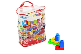 Jouets premier âge CLEMENTONI Cubes souples Clemmy Plus : Sac de 30 cubes
