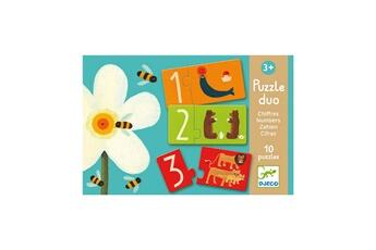 Puzzles Djeco Puzzle 10 x 2 pièces - Duo chiffres