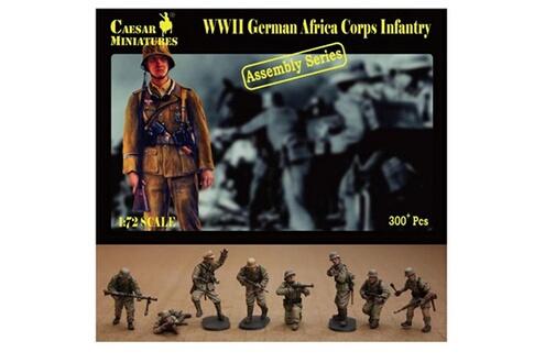 Figurines 2ème Guerre Mondiale : Infanterie Africa Korps allemande 1941-194