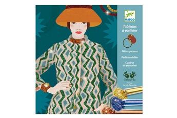 Peinture et dessin Djeco Tableaux à pailleter : Couture et Mode
