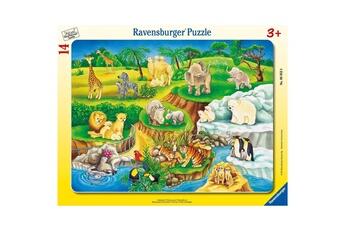 Puzzles RAVENSBURGER Puzzle cadre : 14 pièces : Visite au zoo