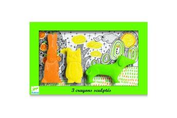 Peinture et dessin Djeco Crayons sculptés : Lapin, hibou, chien