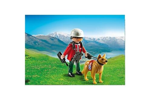 5431 Sauveteur de montagne avec chien