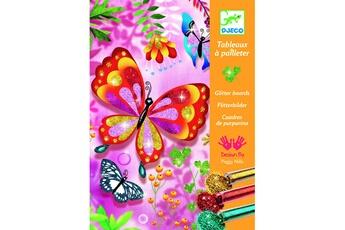 Peinture et dessin Djeco Tableaux à pailleter : Papillons à paillettes