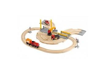 Trains Brio Train brio : circuit marchandises rail/route