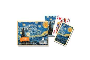 Jeux en famille Piatnik Jeu de cartes : Van Gogh : Nuit étoilée 2 x 55 cartes