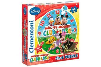 Puzzles CLEMENTONI Puzzle horloge 96 pièces fluorescent Mickey Mouse