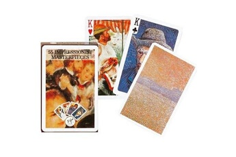 Jeux en famille Piatnik Jeu de 54 cartes Tableaux d'impressionnistes