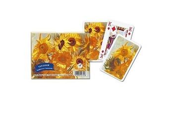 Jeux en famille Piatnik Jeu de cartes : Coffret de 2 x 55 cartes : Les tournesols de Van Gogh