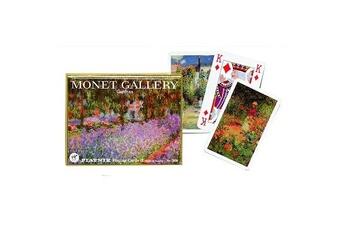 Jeux en famille Piatnik Jeu de cartes : Coffret de 2 x 55 cartes : Monet : Jardins