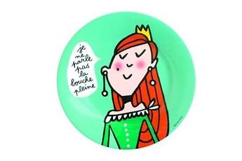Vaisselle bébé Petit Jour Paris Assiette princesses - princesses : pas la bouche pleine