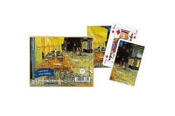Jeux en famille Piatnik Jeu de cartes : Coffret de 2 x 55 cartes : Van Gogh : Café de nuit