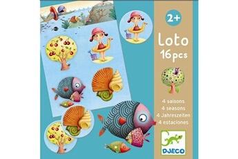 Jeux en famille Djeco Loto : 16 pièces : Les 4 saisons
