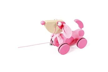 Jouets premier âge Scratch Europe Jouet à tirer : chien rose lily